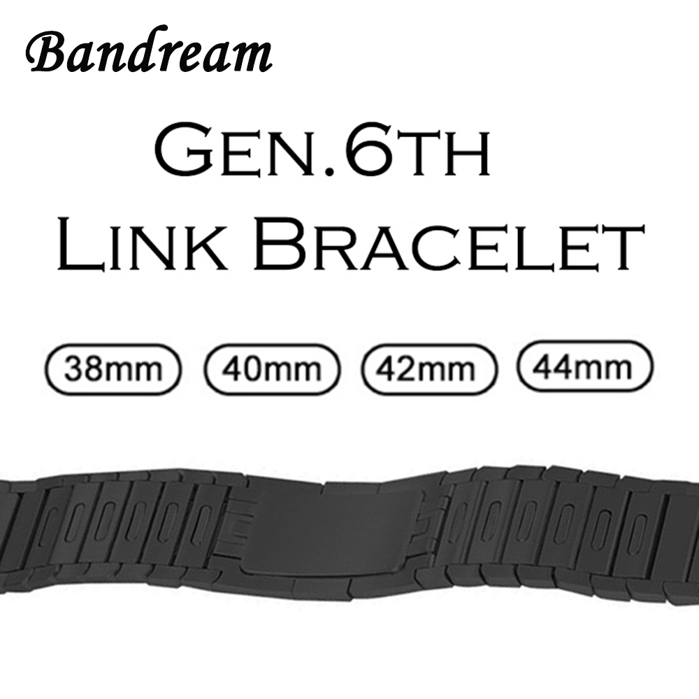 Gen 6 Link Bracelet 1:1 for iWatch Apple Watch 38mm 40mm 42mm 44mm Series 4 3 2 1 Watchband Hand Detachable Band Wrist Strap