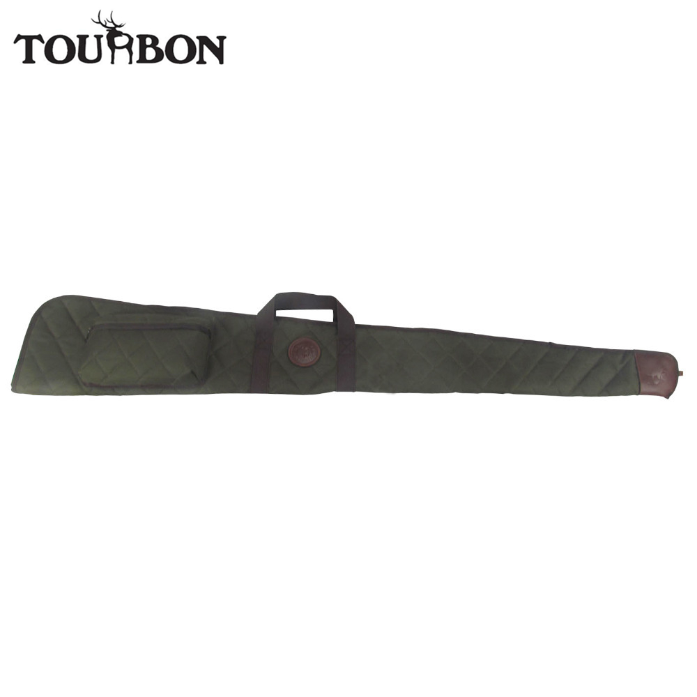 Tourbon Jakt Tillbehör Tactical Shotgun Fall Foldbar Slip Nylon Airsoft Gun Carrying Bag w / Ammo Shells Pouch 138CM