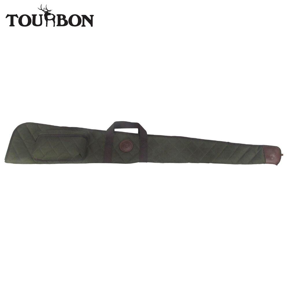 Tourbon accessoires de chasse tactique fusil de chasse sac étui pliable en Nylon Airsoft pistolet sac de transport avec munitions coquilles poche 138CM