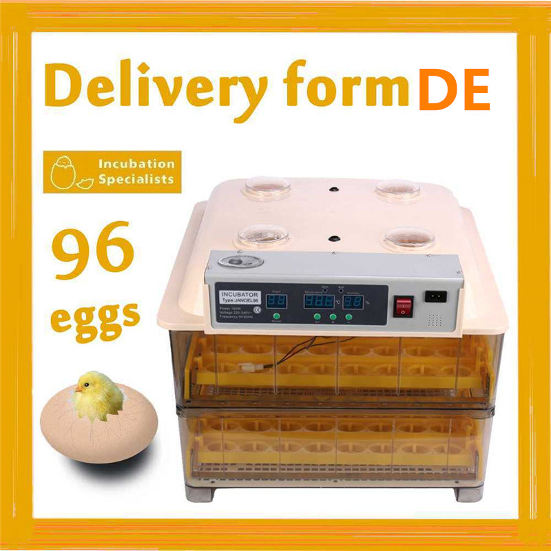 (Ship from DE ) Hot sale model JN96 chicken egg incubation capacity 96 eggs  quail brooder for chicken brand new model chicken egg incubation capacity 96 eggs