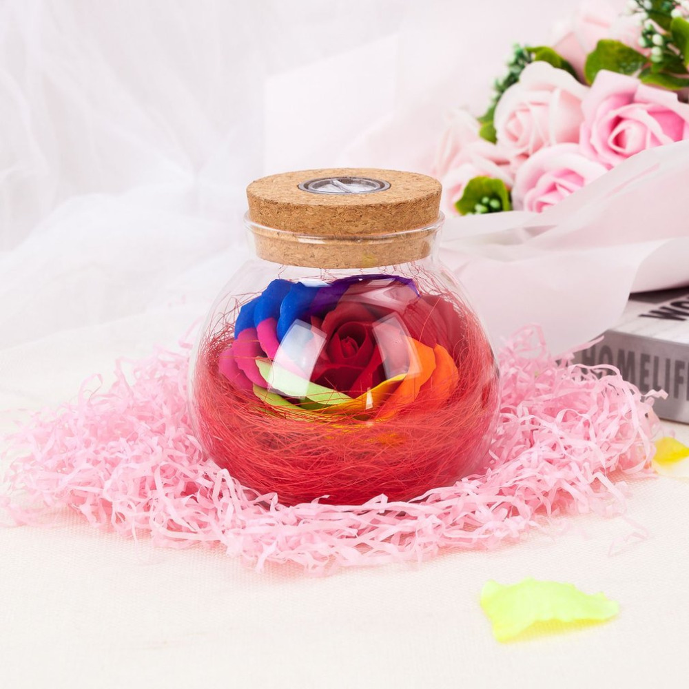 Eternal Flower Gift For Girl RGB LED Dimmer Lamp Colorful Remote Night Light Bottle Creative Romantic Rose Bulb Great Holiday agm rgb led bulb lamp night light 3w 10w e27 luminaria dimmer 16 colors changeable 24 keys remote for home holiday decoration