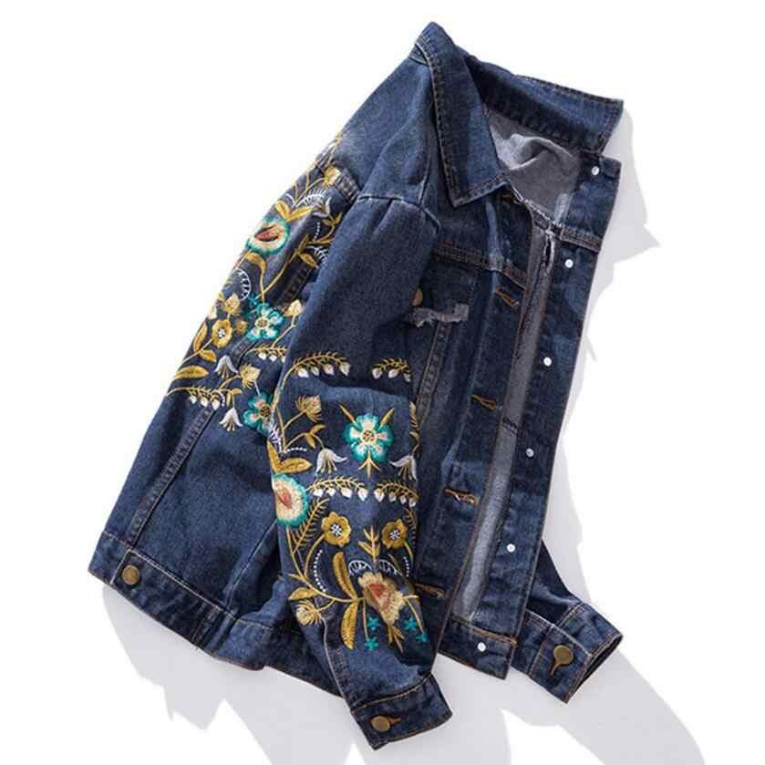 30c63bcc089 ... Весна плюс Размеры Верхняя одежда Куртка процесс вышивки Мода Вышивка  джинсовая куртка 100 кг можно носить ...