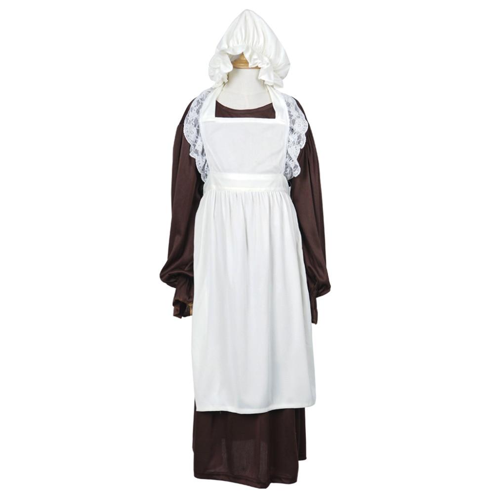 Victorian Maid Cosplay Costume Girls Maid Dress Long ...