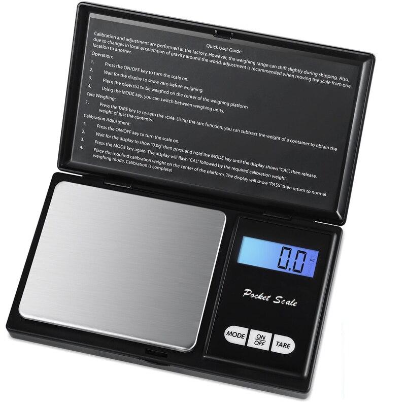 500g/0,01g Digital Pocket Schmuck Skala 0,01 Mini Präzision Elektronische Balance Gewicht Gold Gramm Münze Waagen LCD 7 Einheiten