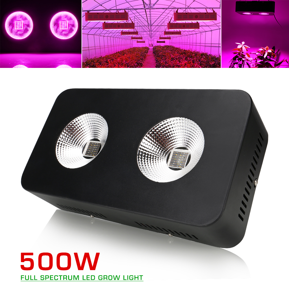 500W Full Spectrum COB Led grow light for indoor cultivation flowers grow tent hydroponic system & Aqurium plant grow light tillage system in rice cultivation