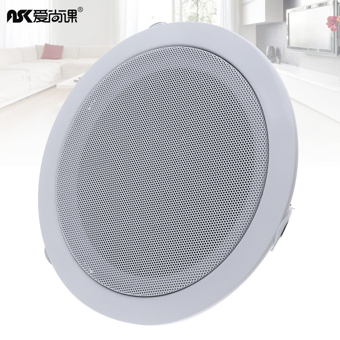 Expressive 6 Inch 15w Fashion Metal Input Usb Mp3 Player Ceiling Speaker Public Broadcast Home Background Wall Music System Loudspeakers To Have A Unique National Style