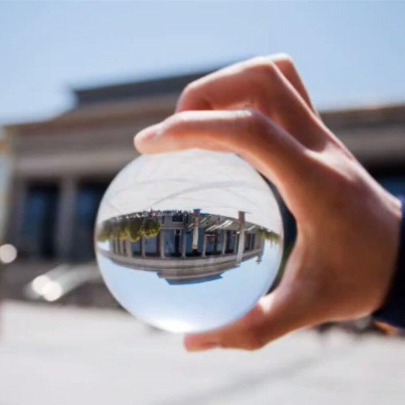 JQJ Rare Chiare di Cristallo Fotografia Sfera di 60mm Asian Quarzo Feng Shui Sfera Magica Guarigione Globo Palle Per I Viaggi Photographyer