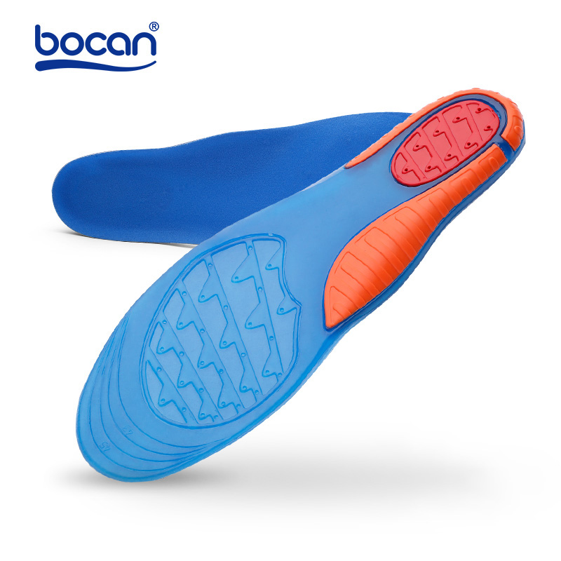 Bocan high quality gel insoles comfortable shoe insoles shock absorption insole for men and women стоимость