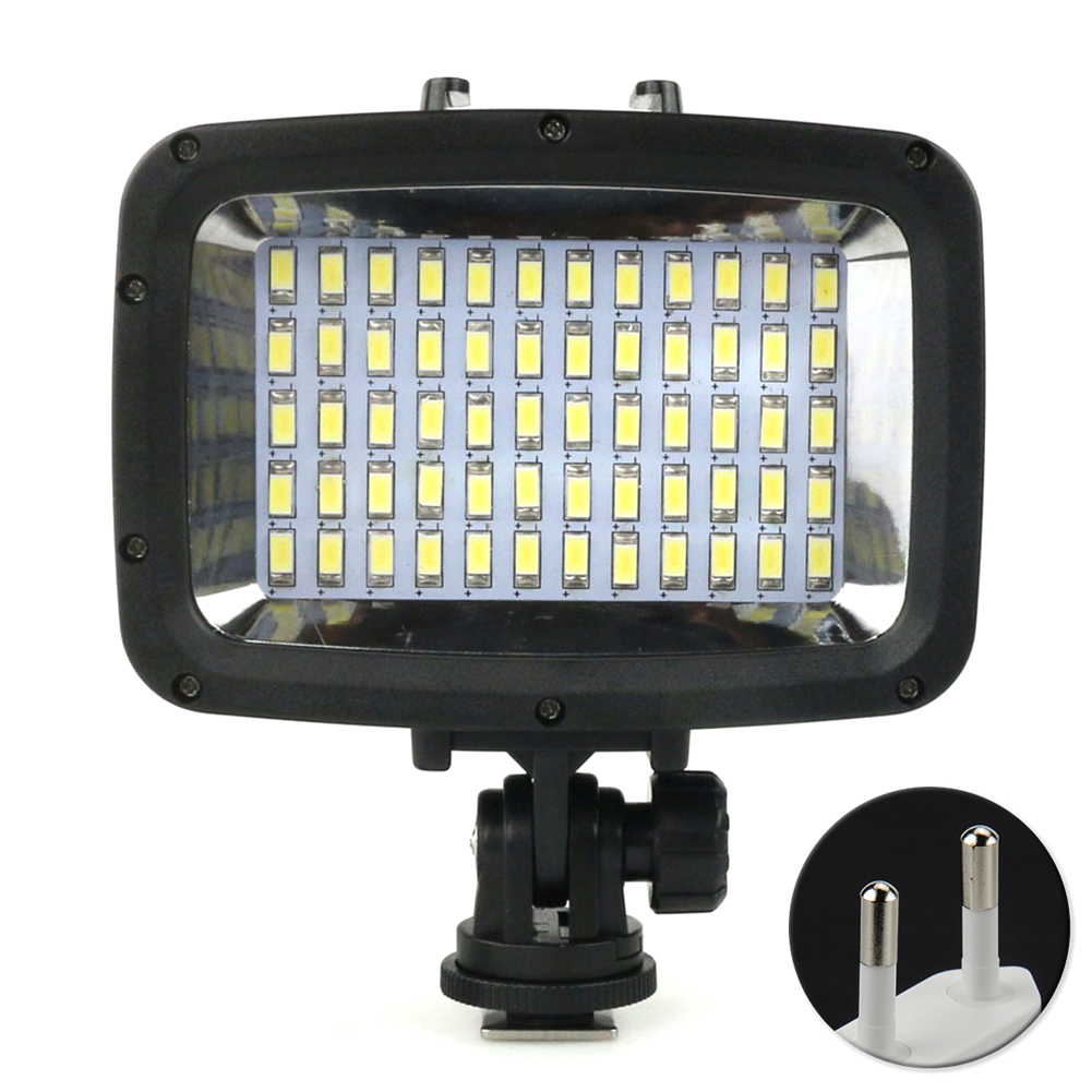 Photography Super Bright Fill Light Underwater Dimmable POV Flash 40m Waterproof Diving 60 LED For GoPro