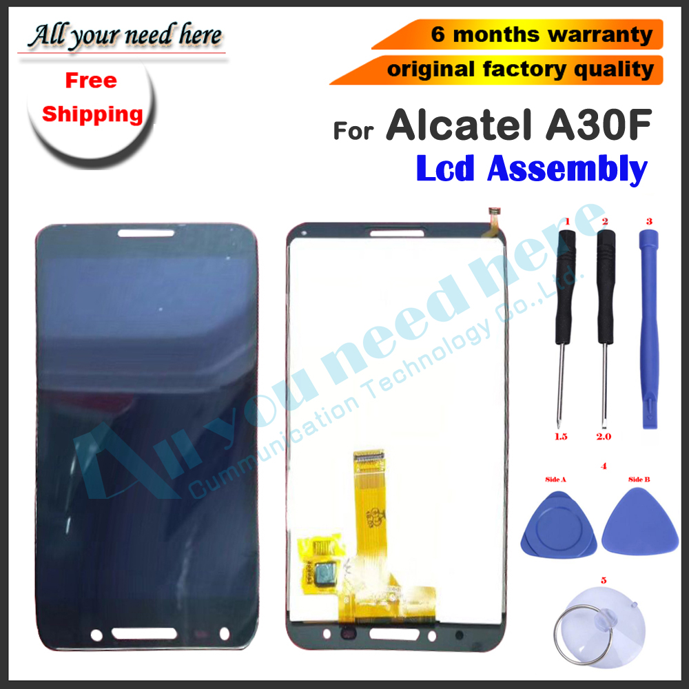 AAA Factory quality full LCD assembly For Alcatel A30F LCD Display screen Touch Screen Assembly Black+tools AAA Factory quality full LCD assembly For Alcatel A30F LCD Display screen Touch Screen Assembly Black+tools