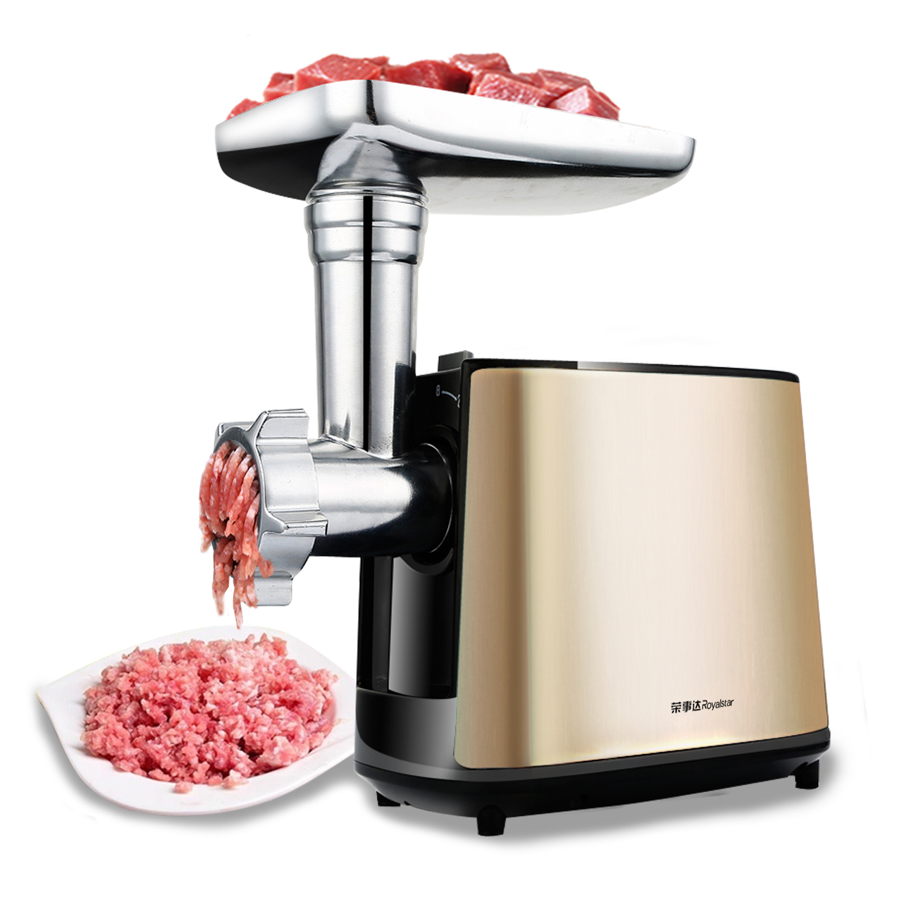 Household appliances electric Meat grinder stainless steel Meat grinder Fully automatic Broken vegetables Ground meat multi function electric stainless steel household commercial food meat grinder 220v