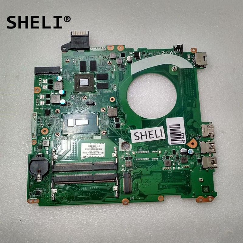 782934-001 782934-501 782934-601 SHELI DAY16EMB8C0 For HP 15 15-P Laptop Motherboard Notebook Pc Mainboard I5-5200U CPU Test Ok