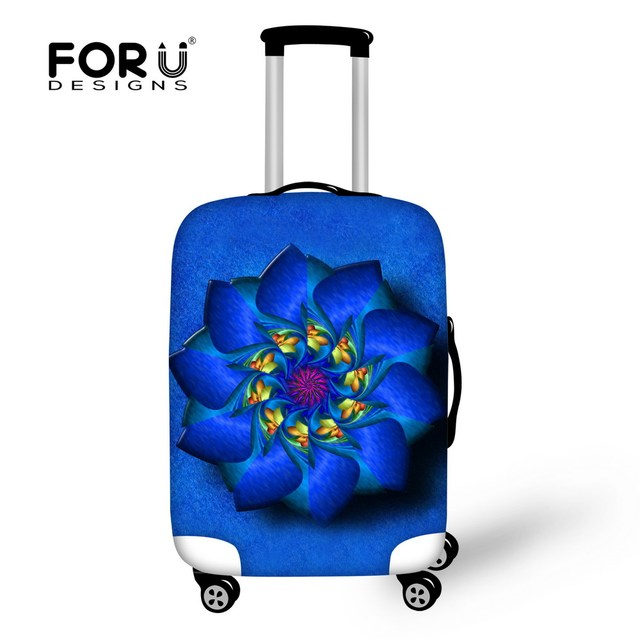 Vintage Flower Style Cover for Suitcase Bags Luggage Accessories Set for Men's Women Waterproof Protection Suitcase Case Cover