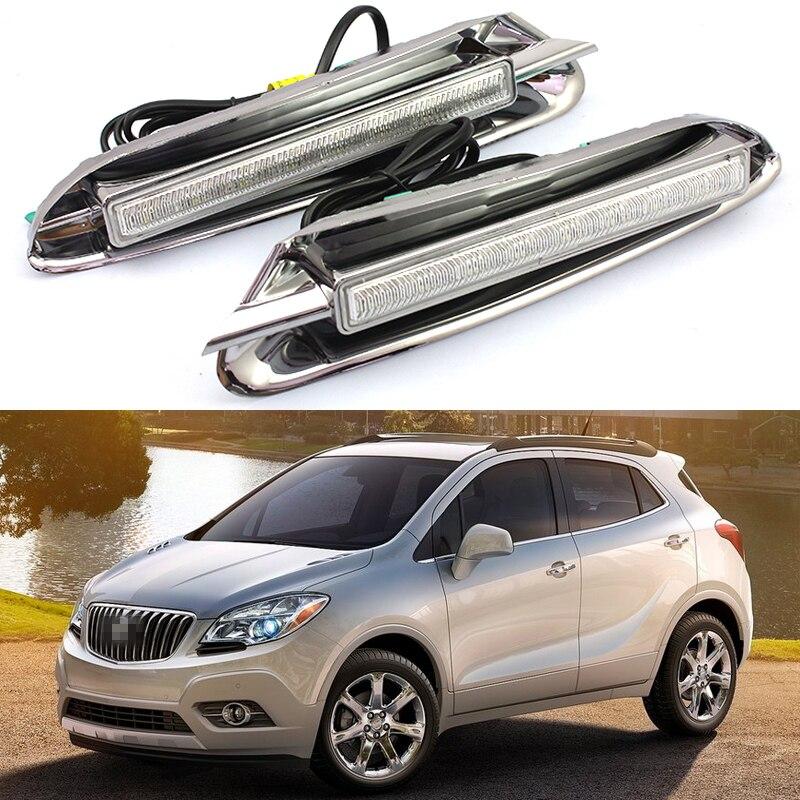 2013 Buicks: 2X LED DRL Daytime Running Lights Daylight ABS Fog Lamps