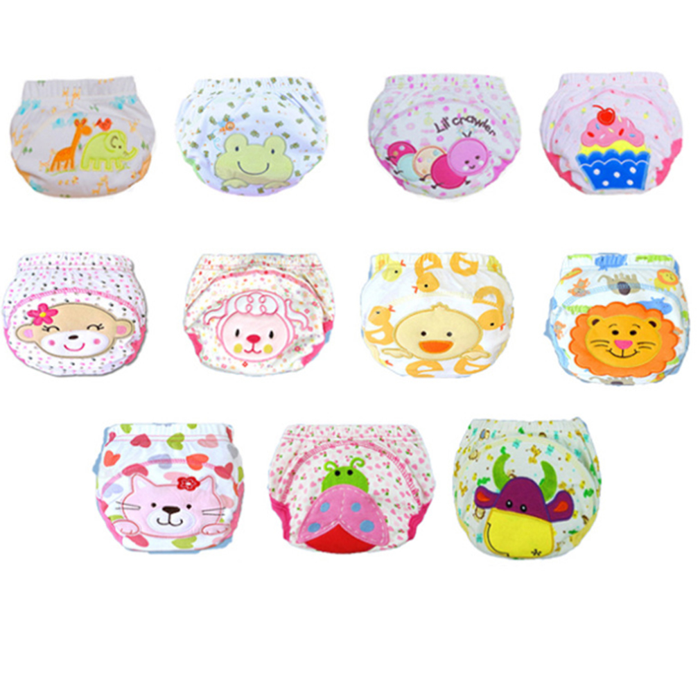 Hot! Boys Girls Babies Breathable Washable Cloth Wrap Diaper Underwear Pant 5patterns S/ ...