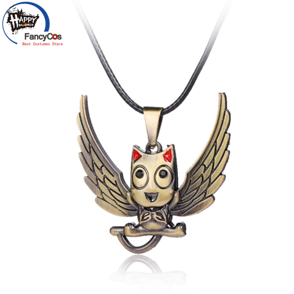 Animation Fairy Tail Happy  Pendant  Metal Necklace Fancy Jewelry Costume Cosplay Halloween Movie Gifts Party