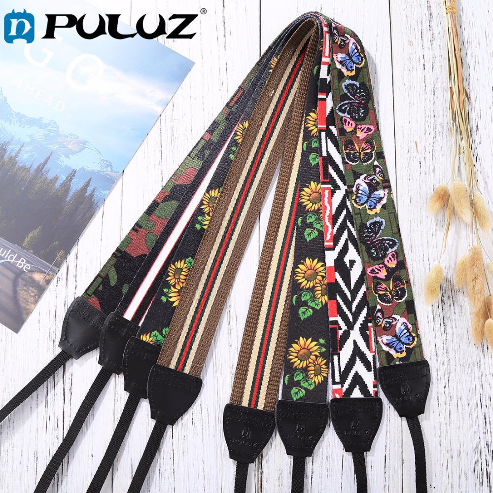 PULUZ Retro Ethnic Style Multi-style Series Shoulder Neck Strap Camera Strap Belt for Sony ,Canon ,SLR / DSLR Cameras universal quick shoulder strap for slr dslr cameras grey