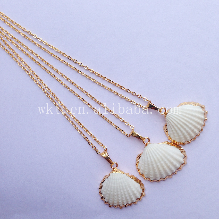 WT JN014 Latest Design Scallop Shell Necklace natural Scallop ...