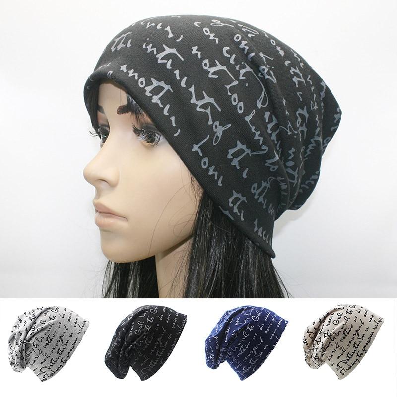 713b9febb22f Nueva moda mujer carta hombres sombrero Unisex primavera otoño Beanie  algodón mujeres gorras gorros invierno hombre gorras Muts gorro invierno  mujer