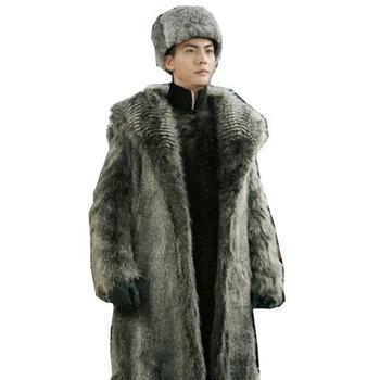 Men Coats 2019 Men's Flurry Winter Faux Fur Jacket Long Windbreaker Thick Warm Oversized 3xl 4xl 5lx 6xl Overcoats