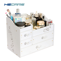 HECARE Plastic Make Up Organizer Jewelry Container DIY Waterproof Storage Box Cosmetic Container Jewelry Case Storage