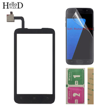 Mobile Touch Screen TouchScreen For Lenovo A316 A316i Touch Screen Front Glass Digitizer Panel Sensor + Protector Film 3M Glue