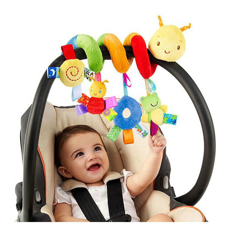 Newborn Baby Stroller Toys Lovely Snail Model Baby Bed Hanging Toys Educational Baby Rattle Toys WJ414 4 style baby toys soft cloth books rustle sound infant educational stroller rattle toy newborn crib bed baby toys 0 36 months