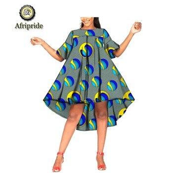 2019 فساتين الصيف الأفريقي أنقرة طباعة أنقرة النسيج الشمع الباتيك dashiki البسيطة اللباس بازان الثراء الكرة ثوب AFRIPRIDE S1925053 1