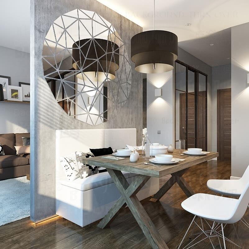 Moderne Geometrie Design Runde 3D Reflektierende Dekorative Spiegel ...