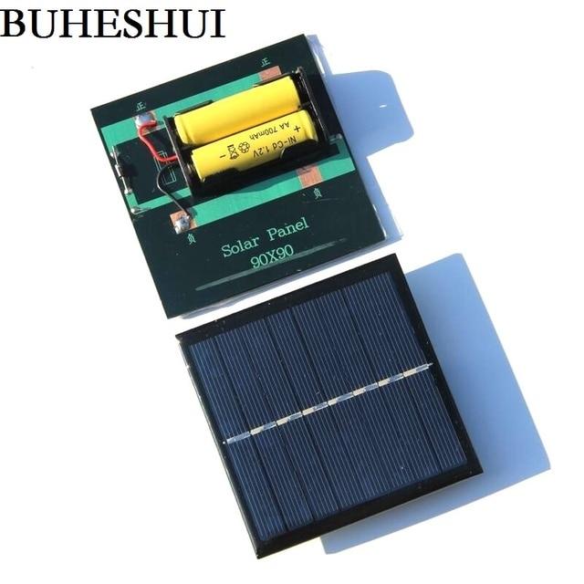 BUHESHUI 1 W 4 V 2 V פנל סולארי עם בסיס לסוללת AAA תאים סולריים 1.2 V AA AAA 2xAA 2 3XAAA סוללה נטענת טעינה