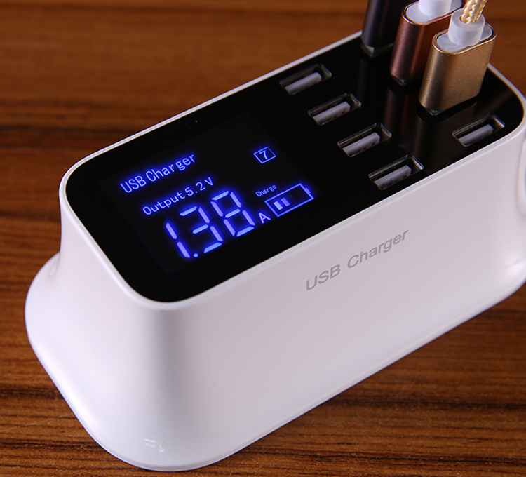 Universal 8 Ports Smart USB Charger Station Hub Led Display charger (25)