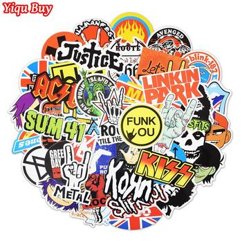 100 Pcs Rock & Roll Stickers Music Retro Band Graffiti JDM DIY Sticker for Laptop Motorcycle Guitar Luggage Car Snowboard Decals - discount item  21% OFF Classic Toys