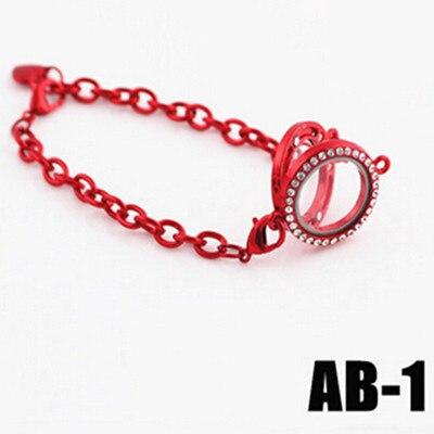 Floating Charms STL Glass 25mm Locket Bracelet