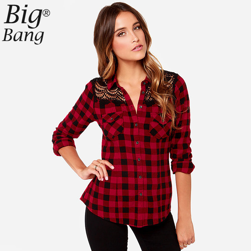 Red Checked Shirt Women Promotion-Shop for Promotional Red Checked ...
