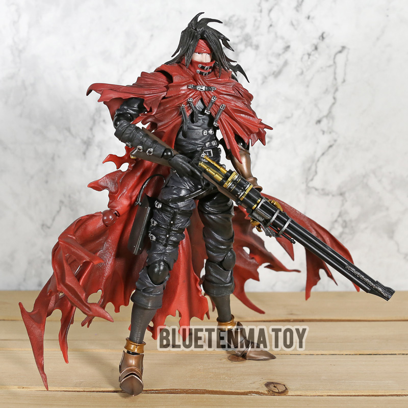Play Arts Final Fantasy 7 Vincent Valentine Action Figures Dirge of Cerberus BJD Collectible Toys