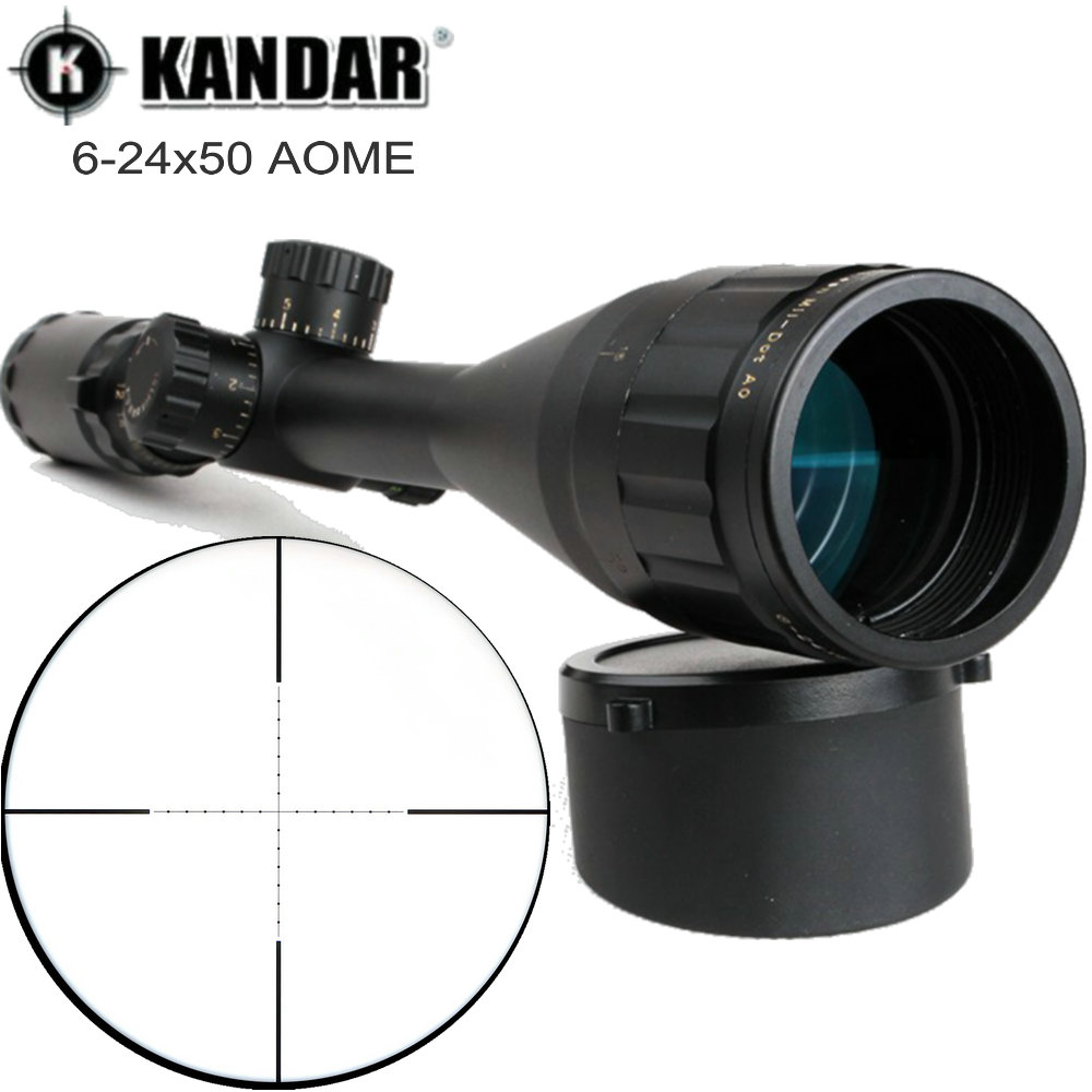 Tactical Optical Sight Gold Edition KANDAR 6-24x50 AOME Glass Mil-dot Reticle Locking Riflescope Huning Trail Rifle Scopes kandar gold edition 3 9x40 aome glass etched mil dot reticle locking riflescope hunting rifle scope tactical optical sight
