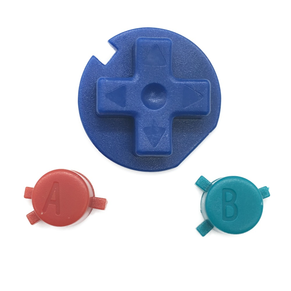 DIY New Multi-Color A B Buttons Replacement for Nintendo Gameboy Color GBC Buttons for GBC D Pads Repair Parts