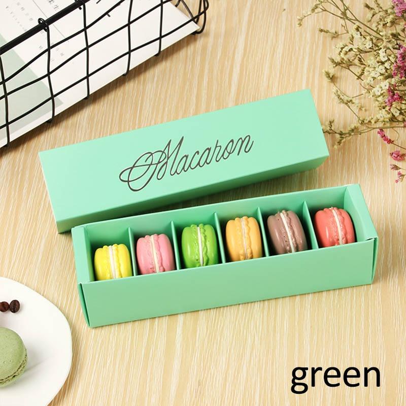 Макаронная упаковка, коробка, красиво упакованная, для свадебной вечеринки, для хранения торта, бумажная коробка для печенья, украшения торта, Аксессуары для выпечки - Цвет: Зеленый