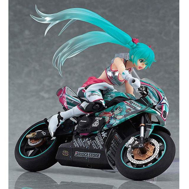 Can Movable Anime idol Hatsune Toys Action Figure DIY Motorcycle rider Cute Hand  to do Hatsune Miku Collection Model Gift 19cm