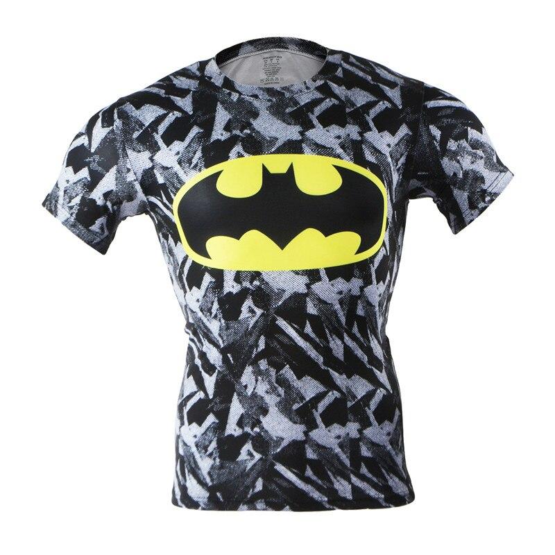 20 Colors Super Hero Men's t-shirt Fitness T-shirts men Jersey Sports running Shirt Crossfit Clothing