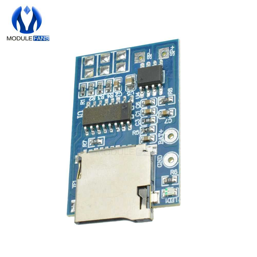 GPD2846A placa 2W amplificador TF tarjeta reproductor MP3 Módulo Decodificador para Arduino GM módulo de fuente de alimentación 5V Audio modo