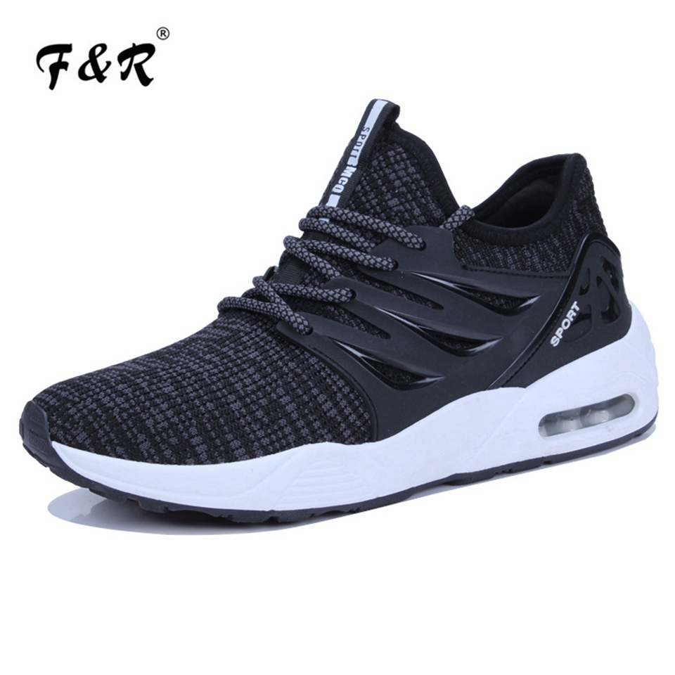 F&R 2018 Men Sport Running Shoes Air Cushion Jogging Shoes for Male Outdoor Summer Tennis Walking Sneakers Trainers Shoes 39-44