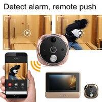 5,0 дюймов светодиодный экран электронный кошачий глаз ночное видение камера с детектором движения дверные звонки глазок LCC77
