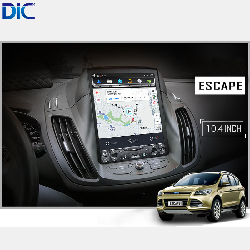 DLC Android 6 0 GPS navigation player For ford Kuga Escape 2013 2017 Car Styling font