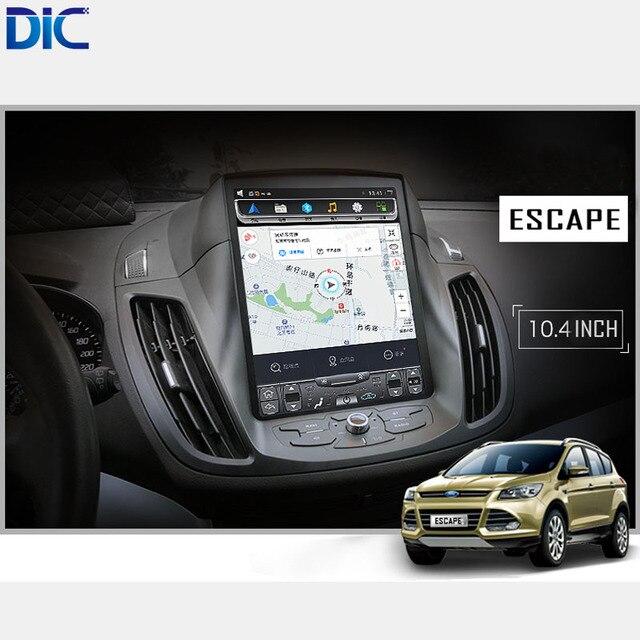 DLC Android 6.0 de navegação GPS jogador rádio Do Carro Styling vertical da tela espelho link de vídeo de áudio Para ford Kuga Fuga 2013 -2017