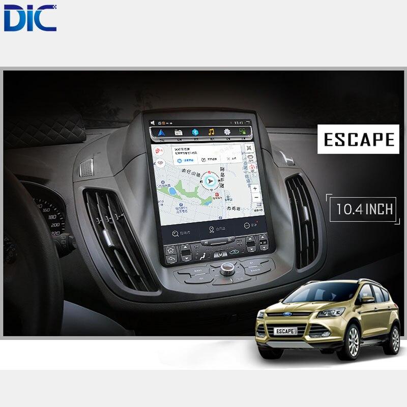 DLC Android 6.0 GPS navigation lecteur Voiture Style radio vertical écran miroir lien vidéo audio Pour ford Kuga Évasion 2013-2017