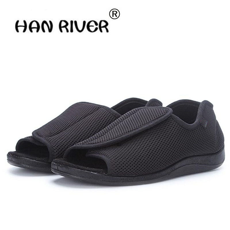 Spring/summer Diabetic shoes foot wide old man's foot deformation middle aged shoes  foot puffy external deformation nursing clo-in Blood Glucose from Beauty & Health    1