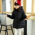 2015 моделей моды взрыва дети девушки пуховик и длинные участки толще пальто куртки детей