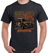 Moda 2019 Top Tee Mens Mini Corrida de Rally de Monte Carlo Mens Engraçado T Shirt Do Carro Cooper T shirts de Impressão Dos Homens