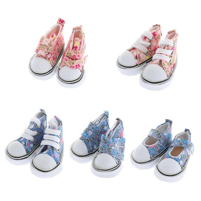 5 Colors Printing Cowboy Blue Pink Mini Doll Shoes For 1/6 Doll Accessories